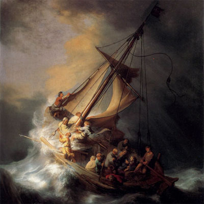 Christ In The Storm On The Sea Of Galilee by Rembrandt